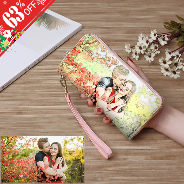 Personalized Crayon Style Photo Wallet